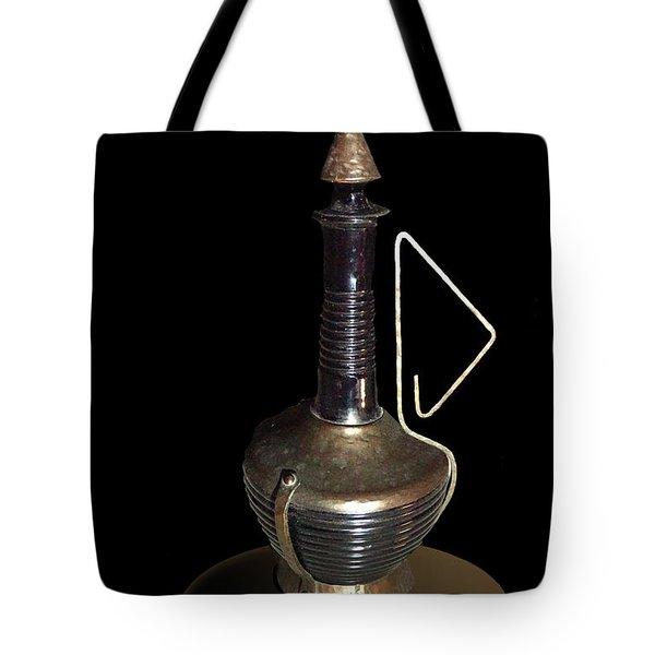 Copper And Black Wine Server Tote Bag
