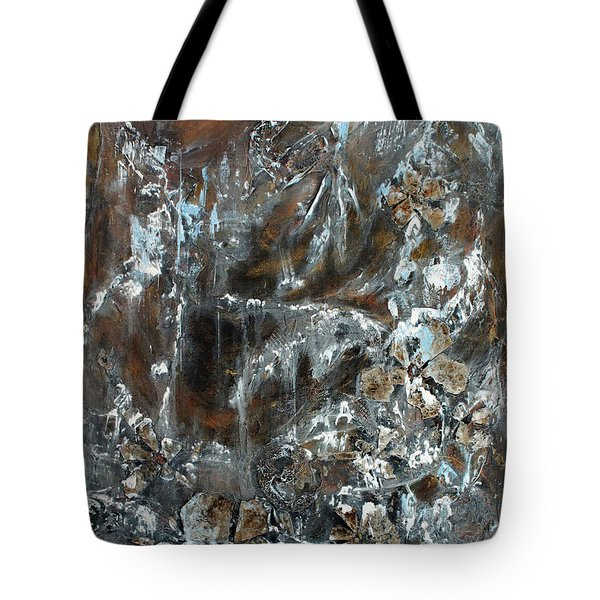 Tote Bag featuring the painting Copper And Mica by Joanne Smoley