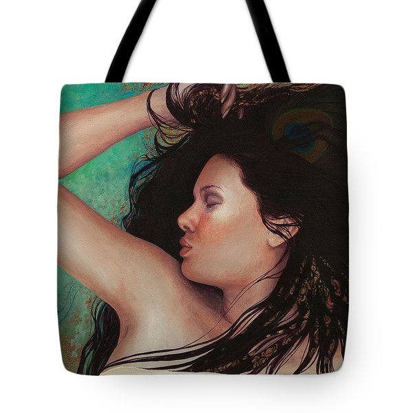Tote Bag featuring the painting Copper Dreamer by Ragen Mendenhall