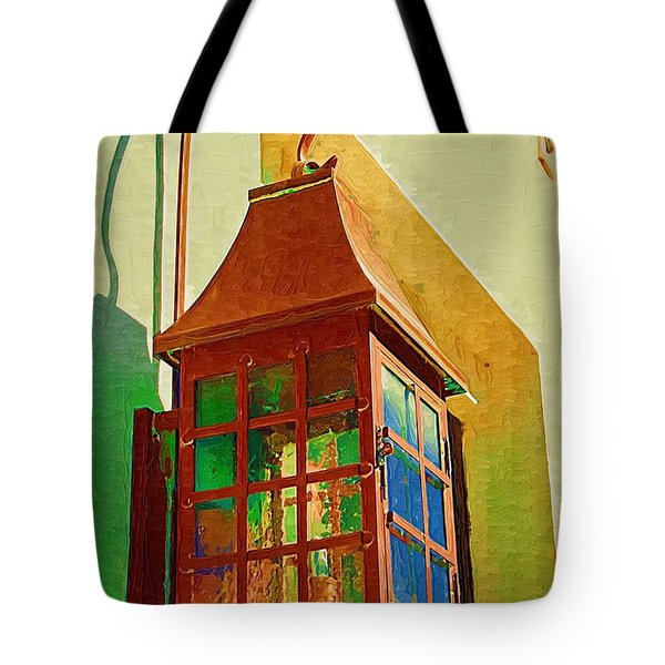 Tote Bag featuring the photograph Copper Lantern by Donna Bentley