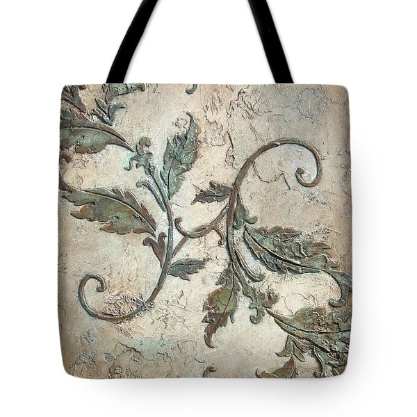 Copper Leaves Tote Bag