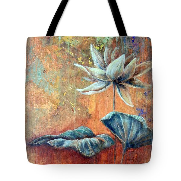 Copper Lotus Tote Bag