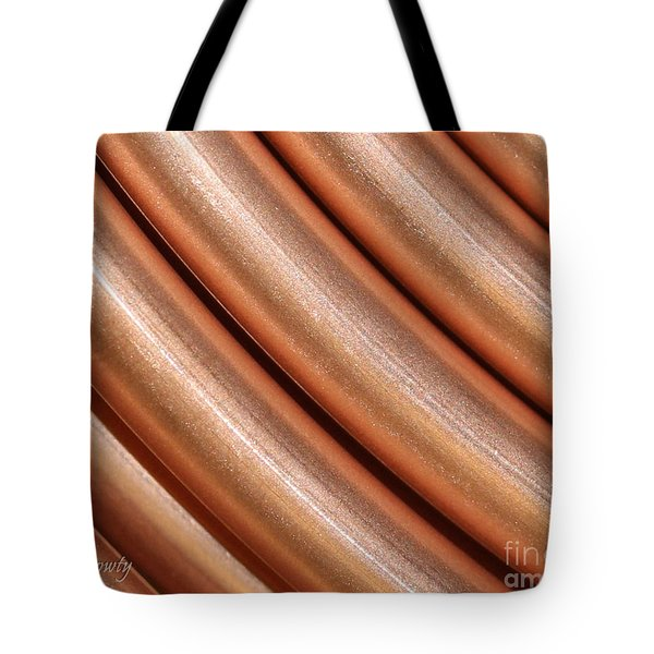 Copper Pipes Tote Bag