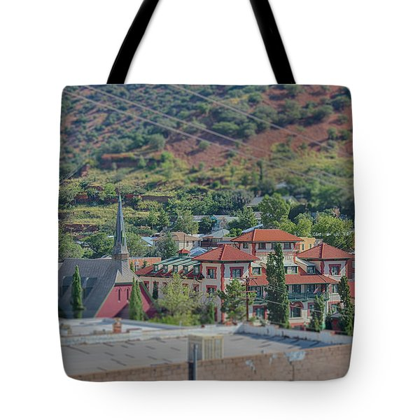 Tote Bag featuring the photograph Copper Queen Hotel by Dan McManus