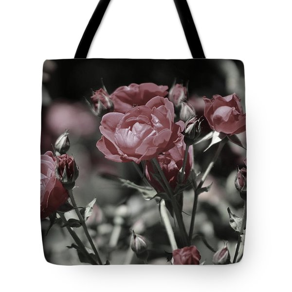 Copper Rouge Rose In Almost Black And White Tote Bag