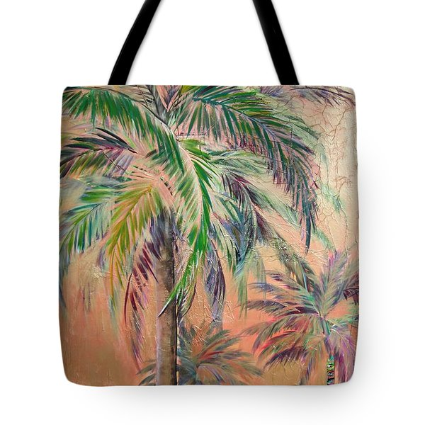 Copper Trio Of Palms Tote Bag