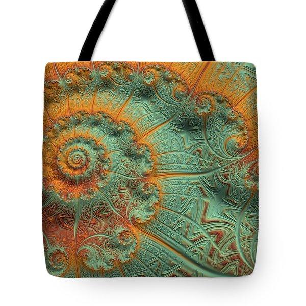 Copper Verdigris Tote Bag