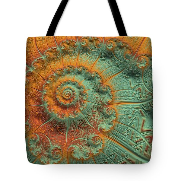 Copper Verdigris Tote Bag