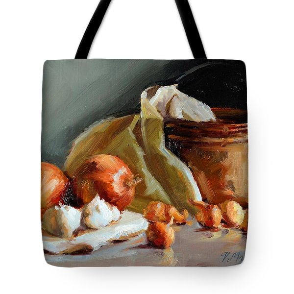 Copper Vessel And Onions Tote Bag