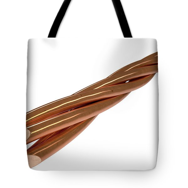 Copper Wire Strands Tote Bag