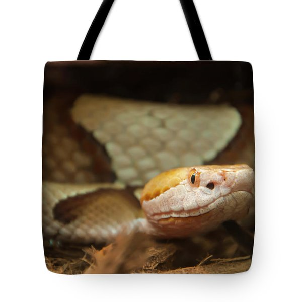 Tote Bag featuring the digital art Copperhead by Chris Flees