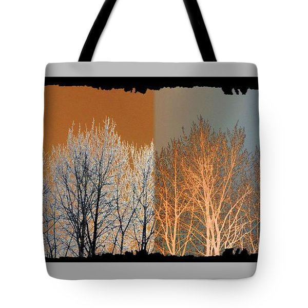 Tote Bag featuring the digital art Coppertone Fusion by Will Borden