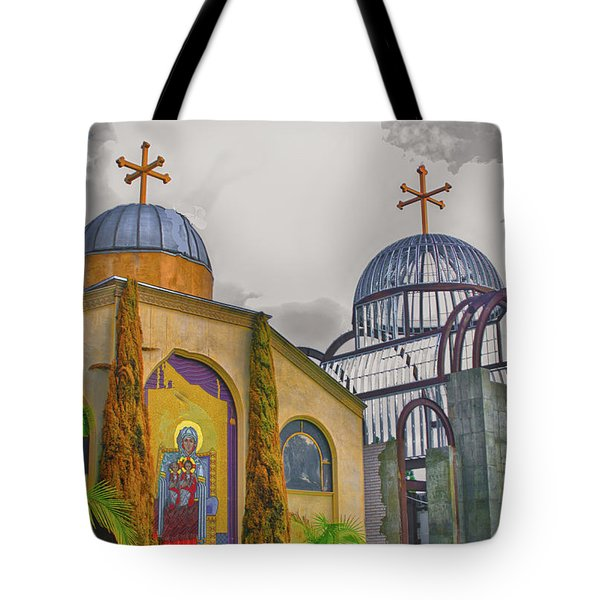 Coptic Church Rebirth Tote Bag by Joseph Hollingsworth