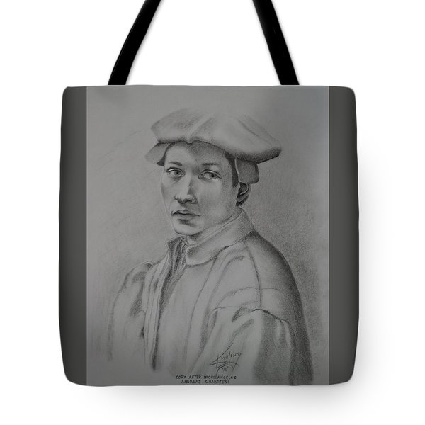 Copy After Michelangelo's Andreas Quaratesi Tote Bag