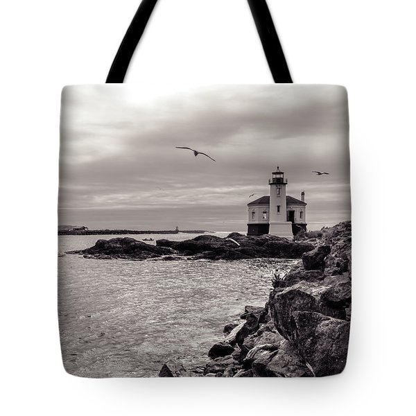 Coquille Lighthouse Oregon  Tote Bag
