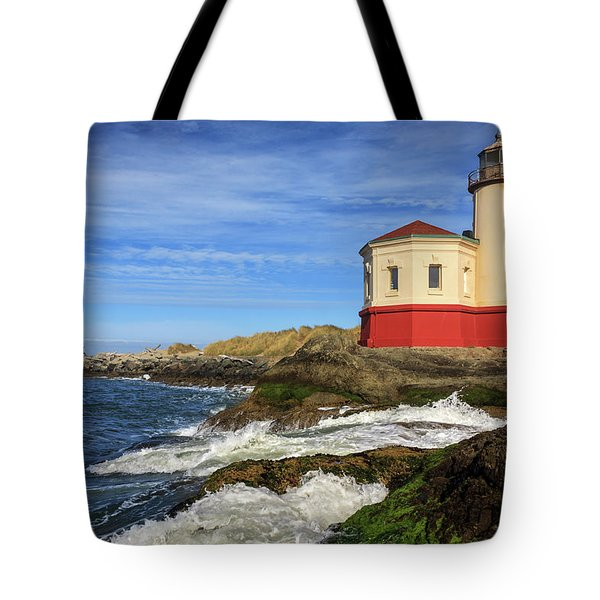 Coquille River Lighthouse At Bandon Tote Bag
