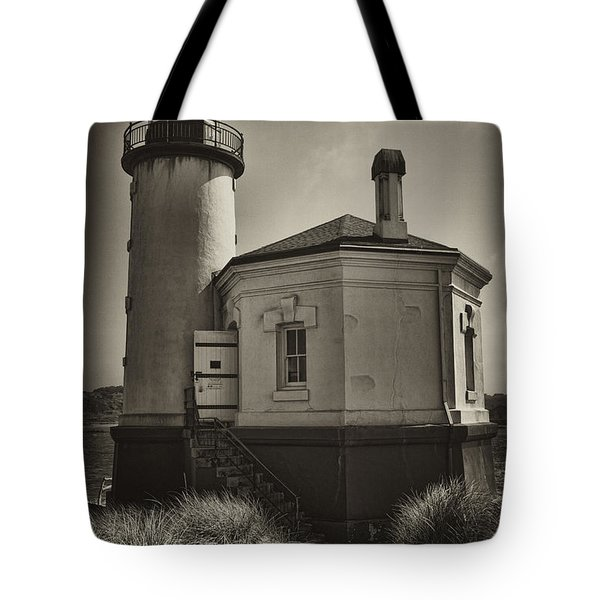 Tote Bag featuring the photograph Coquille River Lighthouse by Hugh Smith
