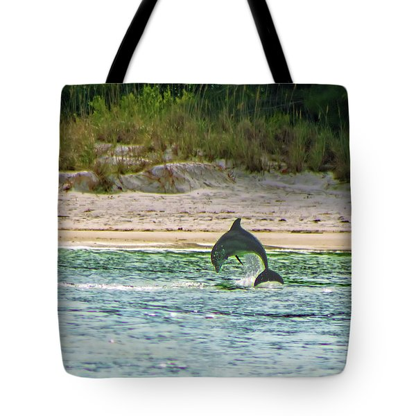 Coquina Dolphin Tote Bag