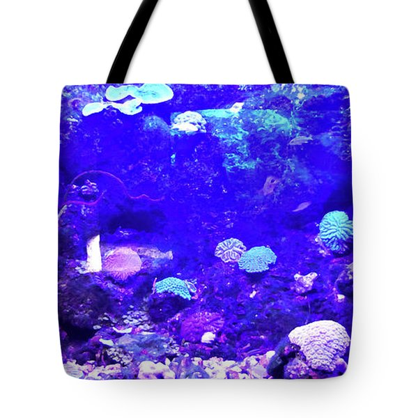 Tote Bag featuring the digital art Coral Art 2 by Francesca Mackenney