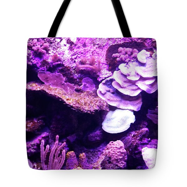 Tote Bag featuring the digital art Coral Art 5 by Francesca Mackenney