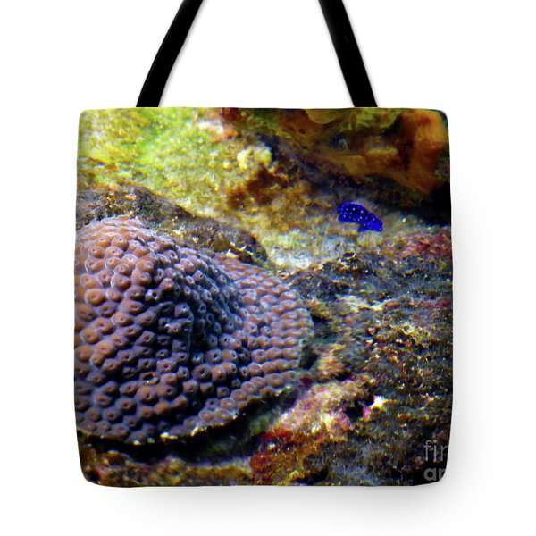 Tote Bag featuring the digital art Coral Art Cu 3 by Francesca Mackenney