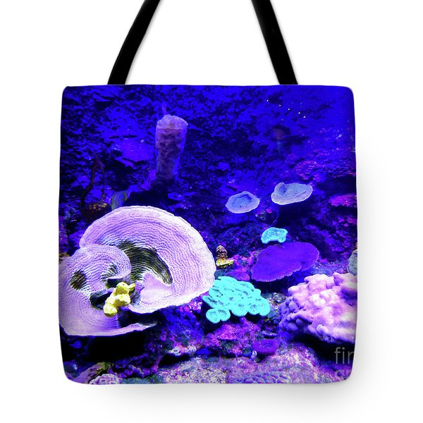 Tote Bag featuring the digital art Coral Art by Francesca Mackenney