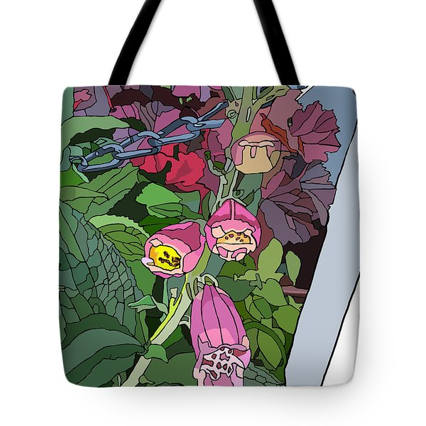 Coral Bells In The Garden Tote Bag by Jamie Downs
