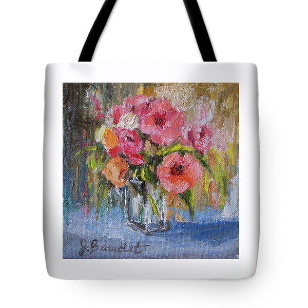 Tote Bag featuring the painting Coral Bouquet by Jennifer Beaudet
