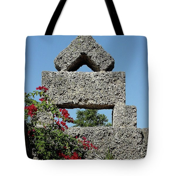 Coral Castle For Love Tote Bag by Shirley Heyn