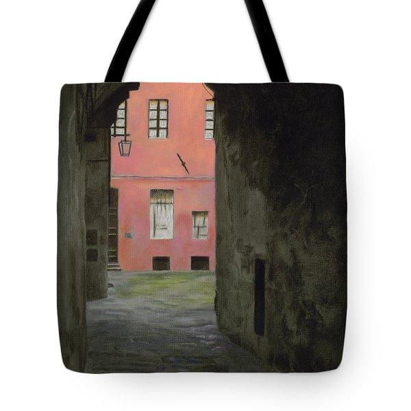 Coral Corridor Siena Italy Tote Bag by Kelly Borsheim
