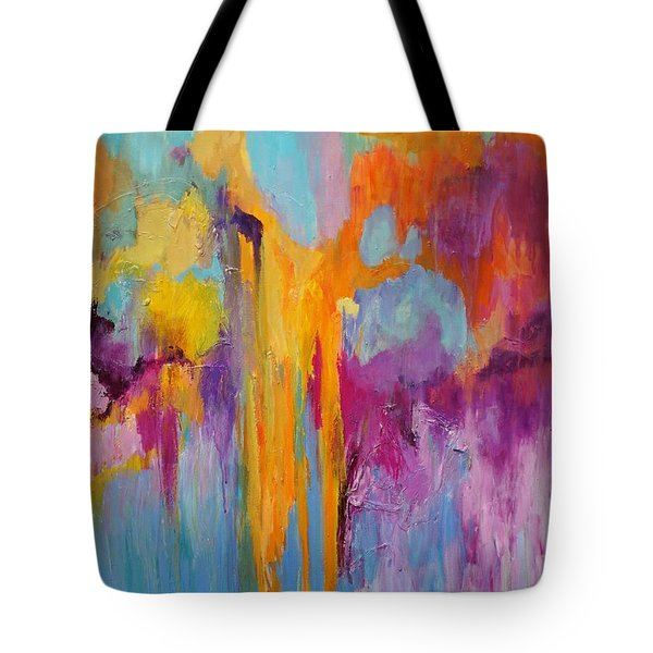 Tote Bag featuring the painting Coral Fanstasy by Jillian Goldberg