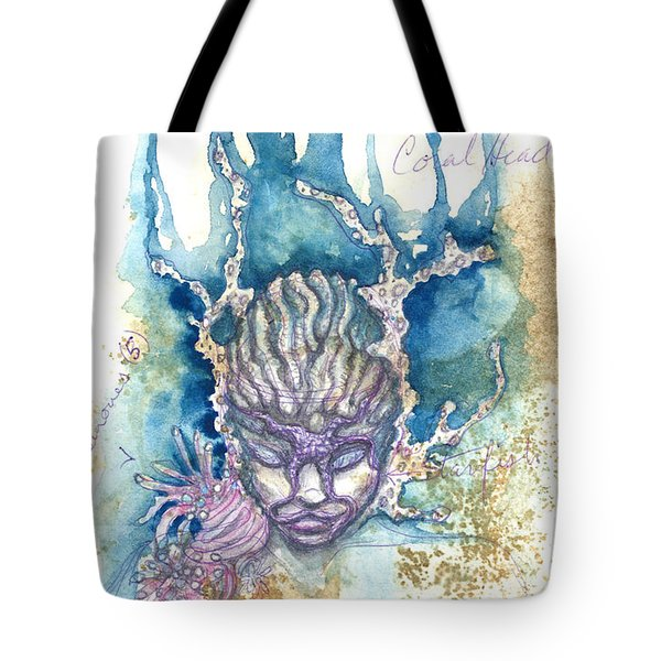 Tote Bag featuring the painting Coral Head by Ashley Kujan