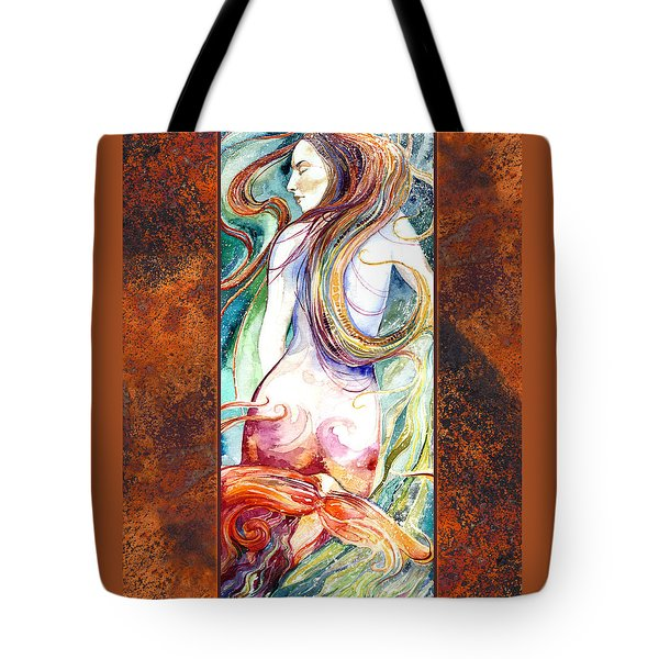 Coral Mermaid Tote Bag by Ragen Mendenhall