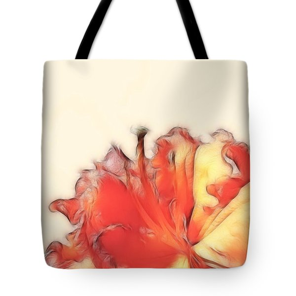 Coral Rhododendron Tote Bag