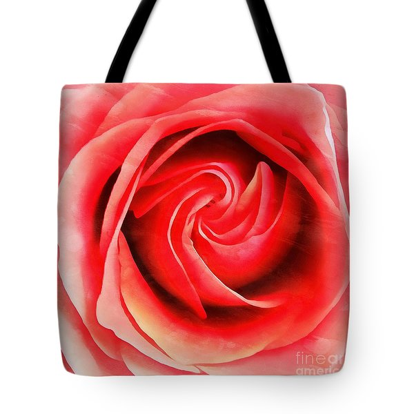 Tote Bag featuring the photograph Coral Rose - My Pleasure - Rose by Janine Riley