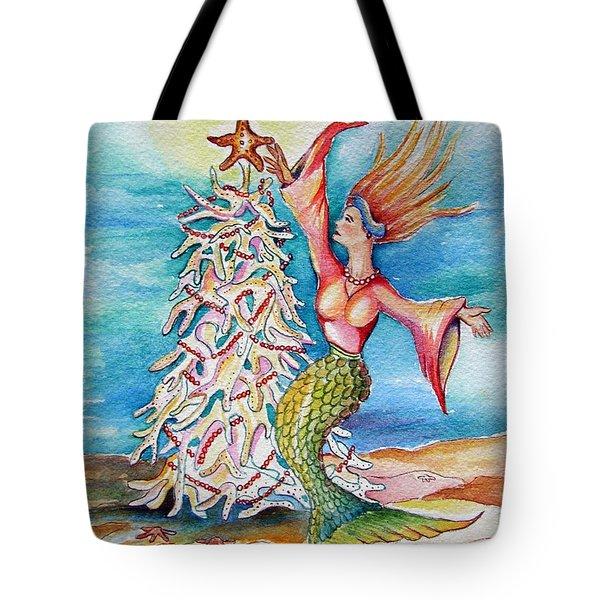 Coral Tree Mermaid Tote Bag