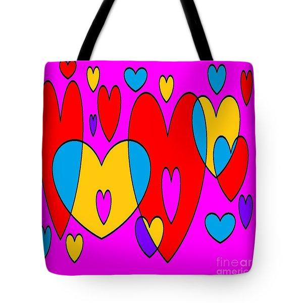 Corazones Tote Bag by Eliso Silva