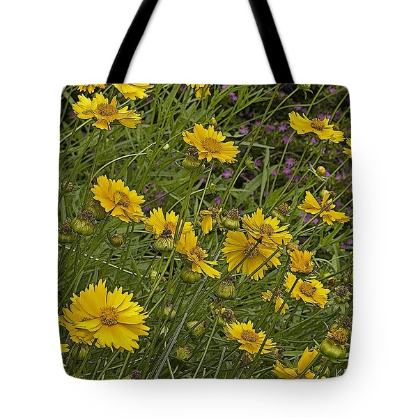 Coreopsis And Mexican Heather Tote Bag