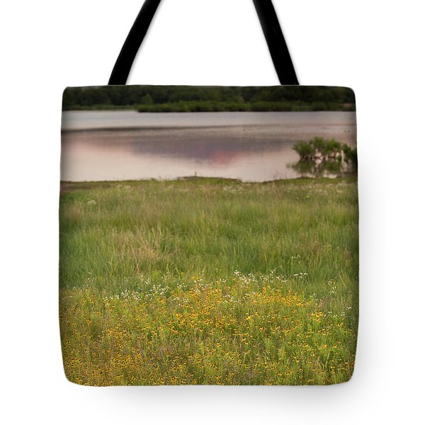 Corepsis Blooming At The Quanah Parker Lake Tote Bag by Iris Greenwell