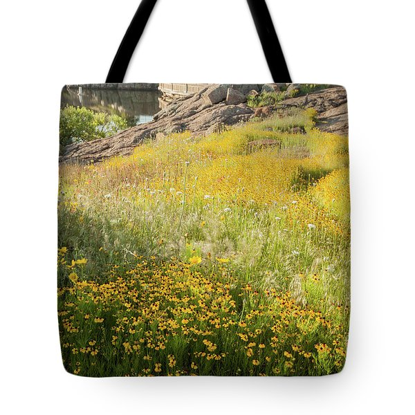 Corepsis Field Of Dreams Tote Bag by Iris Greenwell