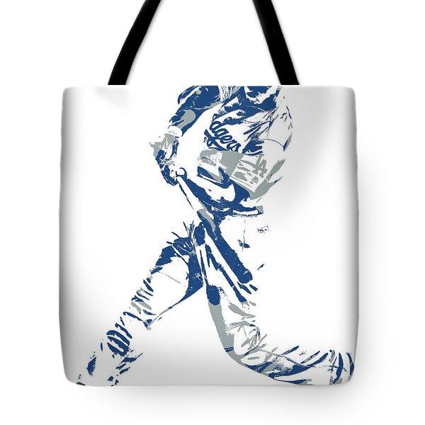 Corey Seager Los Angeles Dodgers Pixel Art 10 Tote Bag