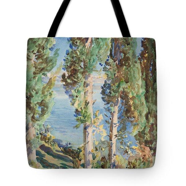Corfu Cypresses Tote Bag