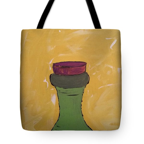 Cork And Bottle Tote Bag