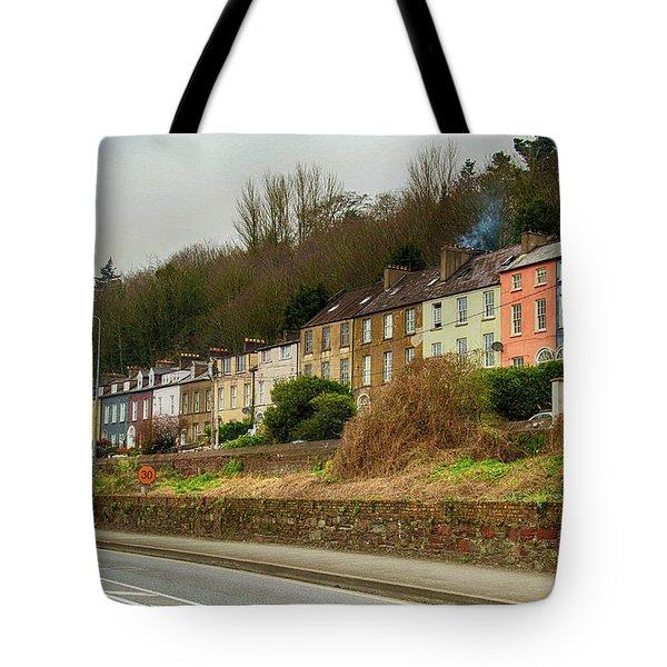 Cork Row Houses Tote Bag