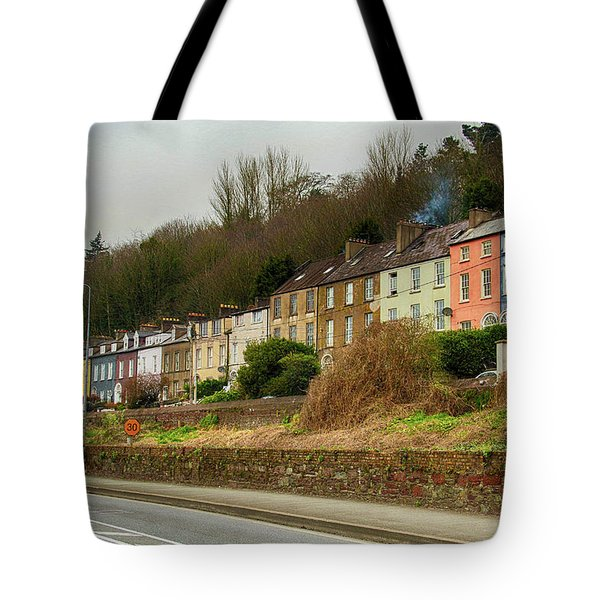 Cork Row Houses Tote Bag