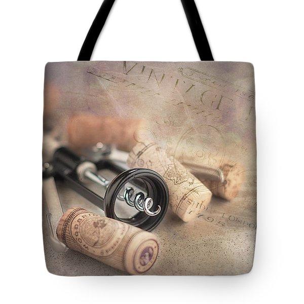 Corkscrew And Wine Corks Tote Bag