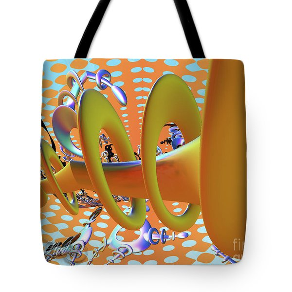 Corkscrew Tote Bag by Melissa Messick