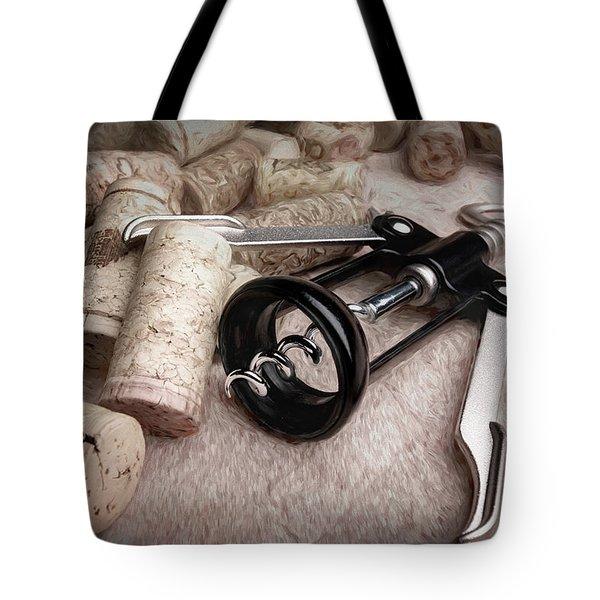 Corkscrew Wine Corks Still Life Tote Bag