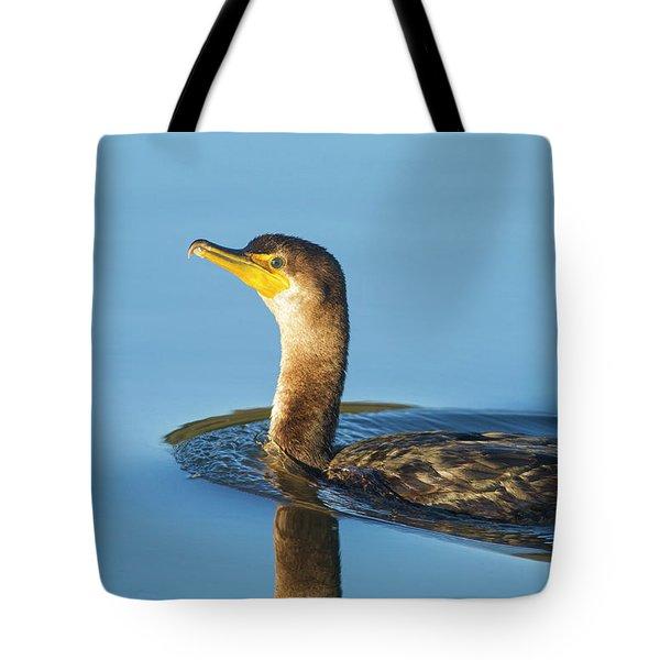 Cormorant Reflection Tote Bag