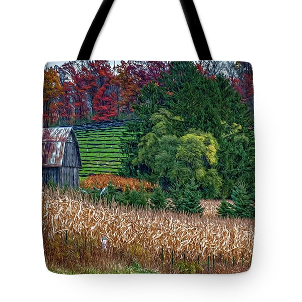 Corn And Ginseng On Poverty Hill Tote Bag